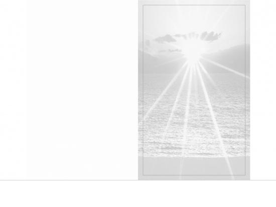 Klappkarte Hochformat SU04 Sonnenuntergang grau Aussenseite   <small>(SU04)</small>
