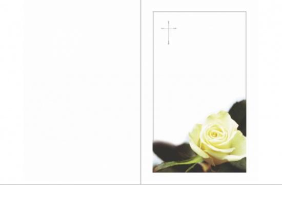 Sterbebildchen ST-VR04 Rose mit Kreuz Aussenseite   <small>(ST-VR04)</small>