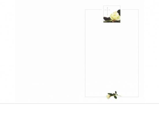 Klappkarte Hochformat VR04 gelbe Rose Aussenseite   <small>(VR04)</small>