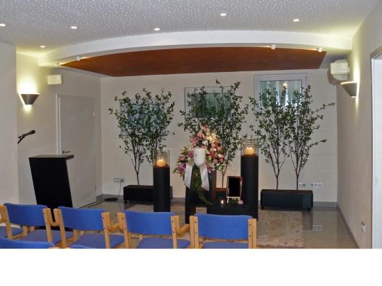 Trauerhalle Fraund-Amelung Urnendekoration   <small>(Deko F/A 2010)</small>