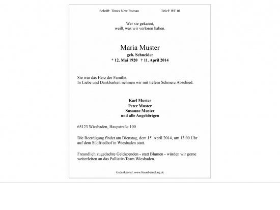 Brief WF01 feiner Rahmen   <small>(WF01)</small>