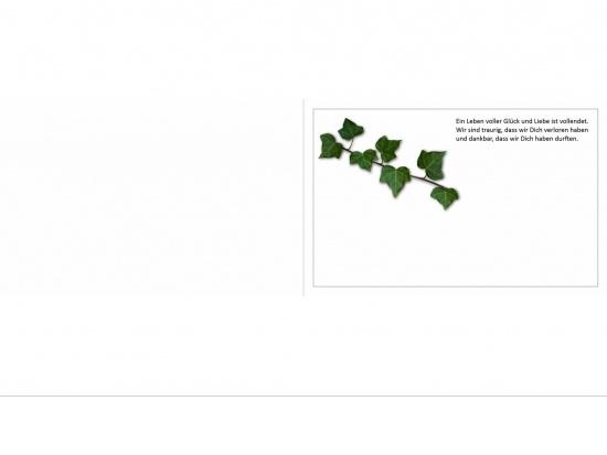 Klappkarte Querformat WF03 feiner Rahmen Aussenseite   <small>(WF03)</small>