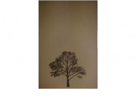 Klappkarte Hochformat PR04-BA Baum mit Einleger Aussenseite   <small>(PR04-BA)</small>