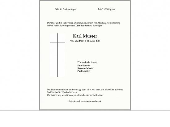 Brief WG01 grauer Rand   <small>(WG01)</small>
