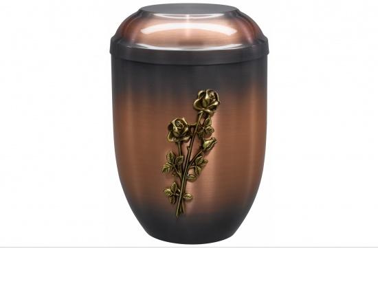 Kupferurne mit drei goldenen Rosen   <small>(1801016)</small>