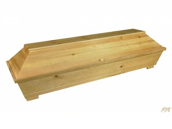 Kiefernvollholzsarg natür gebeizt * Grüne-Linie *   <small>(1101520)</small>