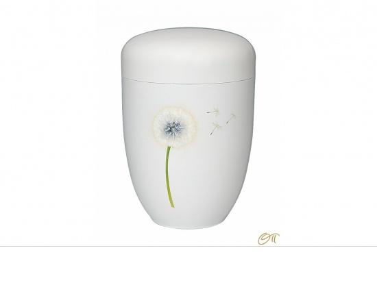 Metallurne weiß mit Pusteblume   <small>(1802055)</small>