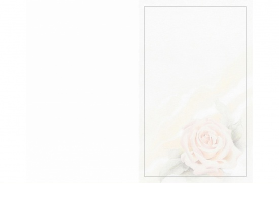 Klappkarte Hochformat RO04 pastellfarbene Rose Aussenseite   <small>(RO04)</small>