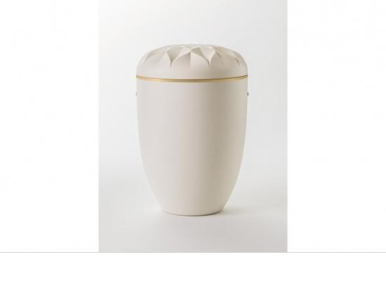Naturstoffurne cremeweiß mit Apfelblütendeckel   <small>(1807230)</small>