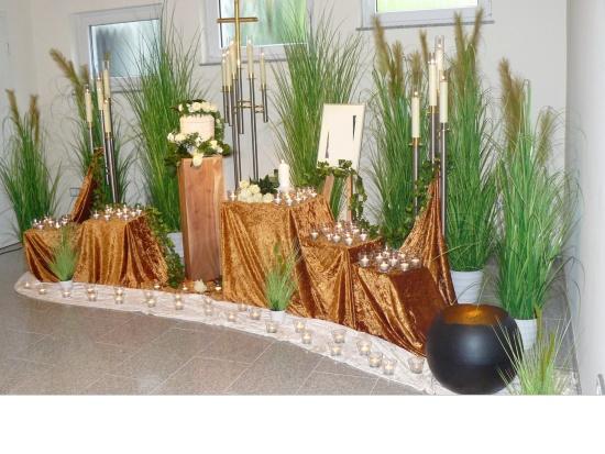 Trauerhalle Fraund-Amelung Urnendekoration   <small>(Deko F/A 2109)</small>