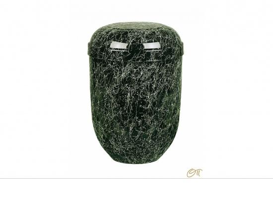 Naturstoffurne in schwarz-grün marmoriert   <small>(1807035)</small>