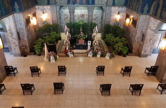 Dekoration Trauerhalle Südfriedhof